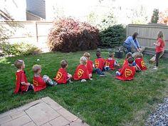 "Cute superhero party, I especially love the ""superhero training"" activity, about through the blog!"