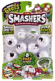 Zuru Smashers Series 2 Gross 1 Pack, New. Slime, Best Christmas Toys, Baby Doll Accessories, Nerf Accessories, Lego City Police, Toys R Us Canada, Pokemon Birthday, Gag Gifts, Toy Store