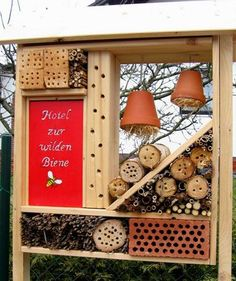 insect hotel- I'm not a huge fan of bugs but I'm sure my boys could spend forever inspecting insects that live here!