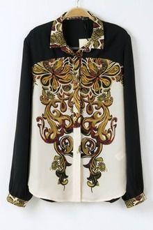 Vintage Floral Button-up Shirt