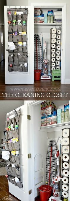 The first thing I did was purchase a few closet organization gadgets. These are normally for shoes but I used them to store the cleaning products we use most. If you are thinking about doing something like this make sure to put your money in strong ones s http://amzn.to/2spCmml