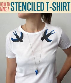 Make cheap custom t-shirts with this easy to follow tutorial on t-shirt stenciling. This is a great way to design your own shirt however you like it!