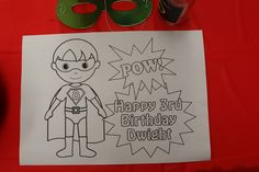Coloring page at a Superhero Party #superhero #coloring
