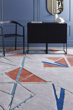 From Designer Rugs creative designers Christine McDonald, Lia Pielli and Phillipa Cowdrey, comes the new collection – Transient; a journey through time, Rug Company, Modern Rugs, Handmade Rugs, Soft Furnishings, Rugs On Carpet, Creative Design, Design Elements, Area Rugs, Cushions