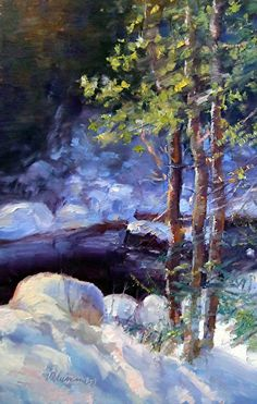 January 5, 2012 Winter Creek Painting! Visitors To Lammers Gallery! | Plein Aire in Maine