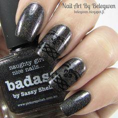 Nail Art By Belegwen: Picture Polish Badass