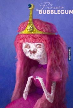 This realistic princess bubblegum scares me