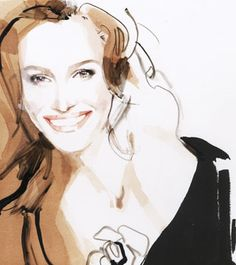 We are professional David Downton supplier and manufacturer in China.We can produce David Downton according to your requirements.More types of David Downton wanted,please contact us right now! David Downton, Julia Roberts, Hidrocor, Watercolor Face, Fashion Sketches, Fashion Illustrations, Dress Sketches, Fashion Drawings, Design Illustrations