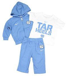 North Carolina Tar Heels Baby Newborn Hoodie T-Shirt & Pant Set - Light Blue Months) Nike Carolina Blue, North Carolina, Love My Boys, Tar Heels, Little Boys, Rain Jacket, Windbreaker, Light Blue, Hoodies