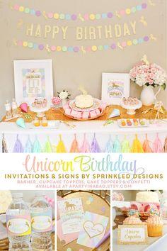 Unicorn Birthday Invitation Unicorn Invitation Unicorn Party