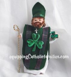 """I added """"TY Doll converted to St Patrick """" to a Monthly Saints Link Up here: http://www.equippingcatholicfamilies.com/2014/03/ty-doll-converted-st-patrick.html"""