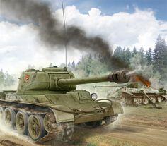 Un raro T-44, sostituto del T-34