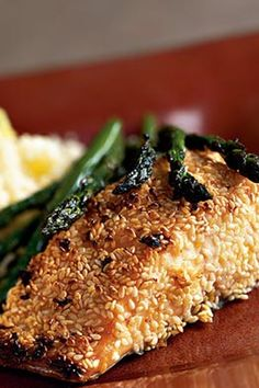 Salmon encrusted with sesame seeds makes for an impressive dinner presentation and a healthy dose of Omega-3's.#seafood #seafoodrecipes #seafooddishes #recipes Sesame Crusted Salmon Recipe, Seafood Dishes, Seafood Recipes, Food Tips, Food Hacks, Salmon Recipes, Omega, Seeds, Presentation