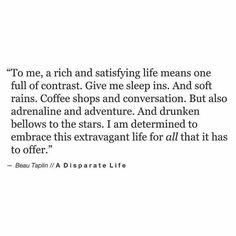 Disparate life
