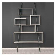 Laurette La folie bookshelf Light grey `One size Color: Gray * Hand painted, semi matte varnish * Composition: birch and steel * Dimensions: L 115 x P 38 x H 205 cm * 5 compartments * Wall fixing thanks to a kit (supplied) * Washable * To assemble * http://www.MightGet.com/january-2017-13/laurette-la-folie-bookshelf-light-grey-one-size.asp