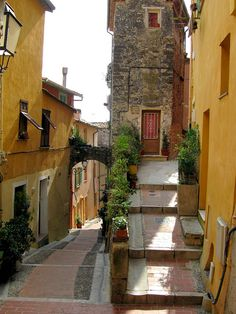 I love old cobblestone alleyways. One day I might just have to visit this place (Menton, France)