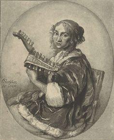 Cornelis Ploos van Amstel | De luitspeelster, Cornelis Ploos van Amstel, Cornelis Brouwer, 1781 | Dame met een 12-korige luit.