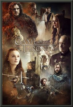Game of Thrones (2011 -  ) is an American fantasy drama television series created for HBO.  It is an adaptation of George R. R. Martin's series of novels, the first of which is titled A Game of Thrones.  The series, set on the fictional continents of Westeros and Essos interweaves several plot lines with a broad ensemble cast.  The rampant sex and gratuitous violence probably add to the immense appeal of this must-see drama!