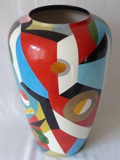 Vase Keramik Einzelstück ca. 50 x 38 cm Small Furniture, Vase, Home Decor, Textile Design, Decoration Home, Room Decor, Vases, Home Interior Design, Home Decoration
