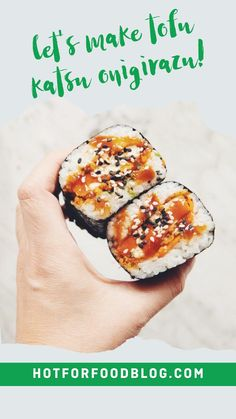 Sushi Sandwich, Sushi Rolls, Vegan Sandwiches, Vegan Dinner Recipes, Healthy Recipes, Tonkatsu Sauce, Onigirazu, Low Sodium Soy Sauce
