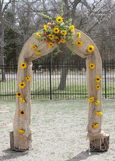 Camo wedding by A New Beginning Florist-Moore, OK. Camo Wedding, New Beginnings, Arch, Outdoor Structures, Garden, Longbow, Garten, Lawn And Garden, Gardens