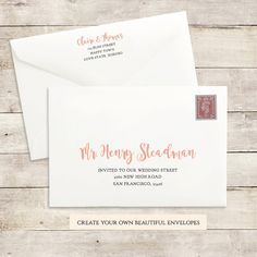 Printable Wedding Envelope Template Instant By Swellandgrand