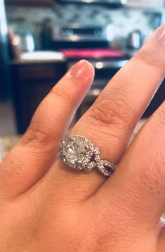 Another custom engagement ring from the team of #frednasseridesign and the custom jewelers at #unicornjewelry l. Best selection of wedding and engagement diamonds in San Diego