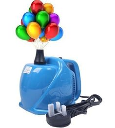 Portable Dual Nozzle Electric Balloon Inflator High Power Air Pump Blower UK ...