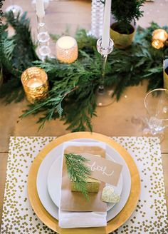 Evergreens make for a festive seasonal twist to fresh floral décor. From table runners to wreaths, you'll love this wintry addition. 10 Winter Wedding Ideas