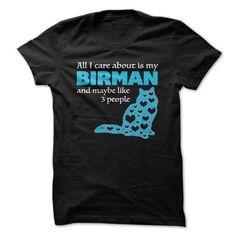 I love my BIRMAN T Shirts, Hoodies, Sweatshirts. GET ONE ==> https://www.sunfrog.com/Pets/I-love-my-BIRMAN--16259070-Guys.html?41382
