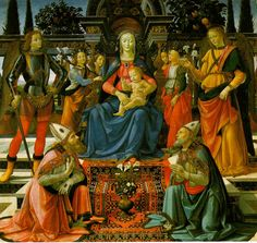 Domenico Ghirlandaio, The Madonna and Child adored by St Zenobius and St Justus, (c. 1483), Uffizi, Florence