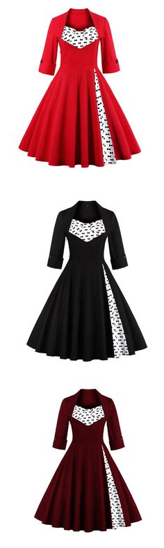 Women's Party Vintage Sophisticated Sheath Dress,Polka Dot Square Neck Knee-length Half Sleeve
