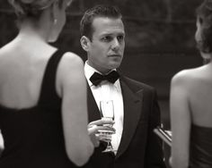 Harvey Specter (Gabriel Macht) from 'Suits'. Serie Suits, Suits Tv Series, Harvey Specter Suits, Suits Harvey, Men's Suits, Gabriel Macht, Black Tie Affair, Le Male, Elements Of Style