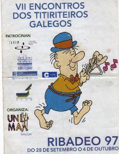 VII Encontros dos titiriteiros galegos [Material gráfico] : Ribadeo 97. do 28 de setembro o 4 de outubro