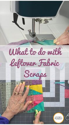 Whether you've just finished your first quilt or you've been quilting for years, you probably have some scraps leftover from past projects. In this tutorial, learn how to use fabric scraps to create larger units and then ultimately turn them into quilts — Toby Lischko shows you how. Quilting Tips, Machine Quilting, Quilting Projects, Quilting Fabric, Scrap Fabric Projects, Fabric Scraps, Crumb Quilt, Sewing Circles, How To Finish A Quilt