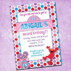 Elmo and Abby Birthday Party Invitation by FreshInkStationery, $1.40
