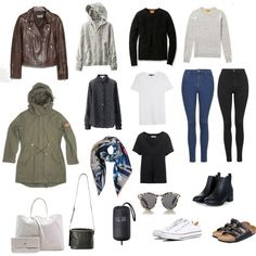Packing: Winter in Hong Kong by smallhearted on Polyvore featuring Uniqlo, rag & bone/JEAN, Penfield, Topshop, Converse, Birkenstock, Goyard, Kara, Vivienne Westwood and Illesteva