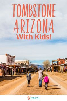 Best things to do in Tombstone Arizona. This town near Tucson used to be the Land of Lawlessness and is now one of the most unique places to visit in Arizona, and fun with kids. If you only have one day, or half a day, here's a guide of things to do and see!  So much history, and kids will love touring the area and dreaming of ghosts, cowboys, and more!  #Tombstone #Arizona #WildWest #familytravel