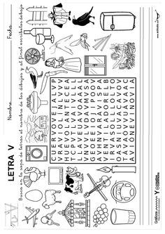 Pasatiempos_lectoescritura.pdf - Google Drive Spanish Words, Spanish Class, Fun Worksheets, Kids Prints, Vocabulary, Activities For Kids, Alphabet, Homeschool, Projects To Try