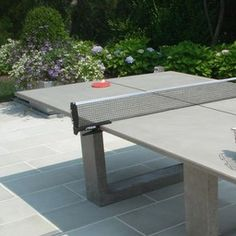 The James De Wulf Concrete Ping Pong Table is an exceedingly elegant modern ping pong table—designed for outdoor use, but perfectly at home indoors. An exercise