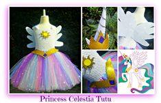 Princess Celestia Tutu set- including Unicorn Horn and Tiara/ears headband- available at Booti Tutu on Fb & Etsy- NZ based