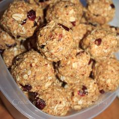 No Bake Healthy(ish) Cookie Balls - Full of protein and fiber. Perfect snack for on-the-go or to pack in school/work lunches.