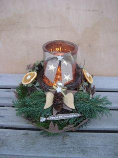 Adventskranz - ♥XL Engel Adventsgesteck, Advents Tischkranz ♥ - ein Designerstück von Sternenglanz-Clemens bei DaWanda