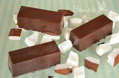 recette de barres glacées choco coco façon Bounty #recette #chocolat #choco #coco