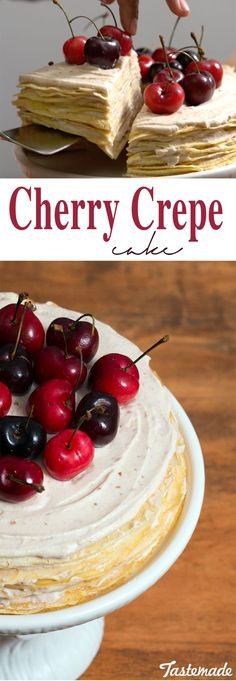 This cherry crepe cake is not only easier than pie, but better.