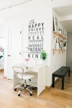 Inspiring wall decal for an office