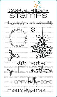 Merry Kiss-mas clear photopolymer stamps made in the USA! Available at www.cas-ualfridaysstamps.com
