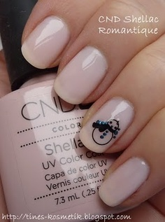 Romantique - Shellac- It is official! I am getting these nails done! Minus the snowman.
