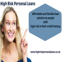 Having financial emergencies which required reimbursing soon, so in such case of urgency when looking for the money in short span of time with bad credit past, so you can apply for fast high risk personal loans. This will arranges what you looking for fast finance option. Apply now!