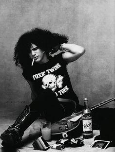Slash wearing an Aerosmith Toxic Twins T-shirt